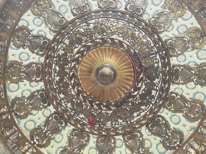 Architecture Backgrounds Ceiling Circle Close-up Concentric Day Design Indoors  No People Pattern
