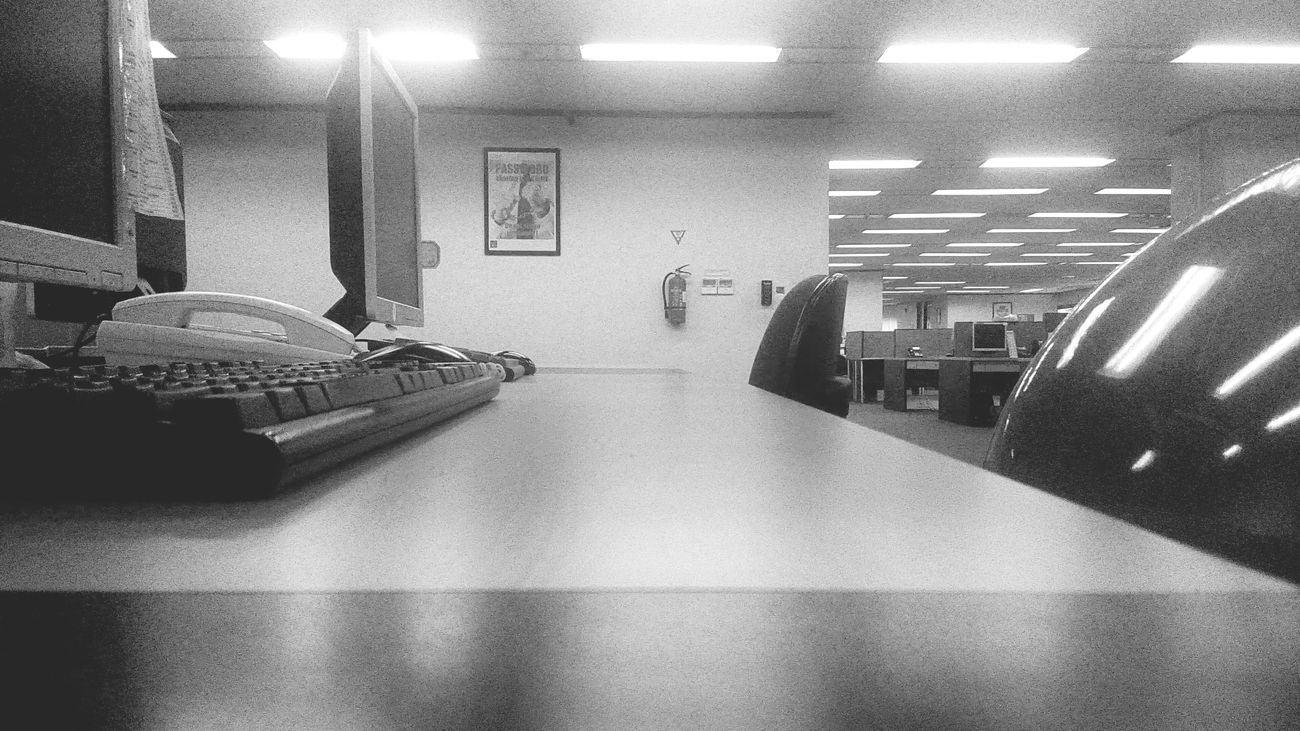 Officeview Blackandwhite Photography