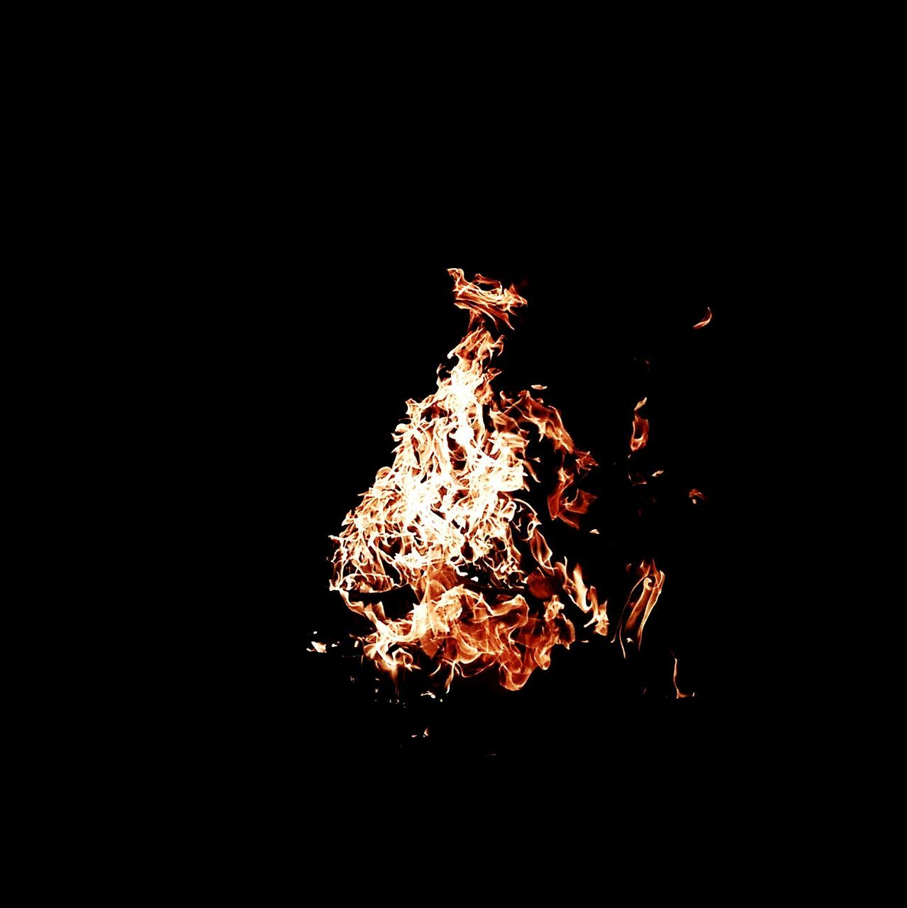 burning, night, flame, no people, heat - temperature, bonfire, motion, outdoors, black background, illuminated, fire pit, close-up