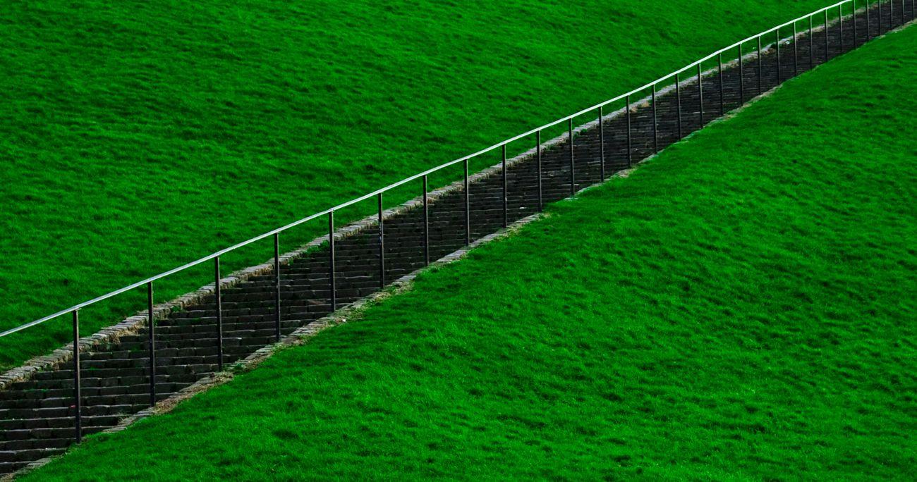 Derry, London Derry. Steps Northern Ireland Derrylondonderry Landscape Green Pretty
