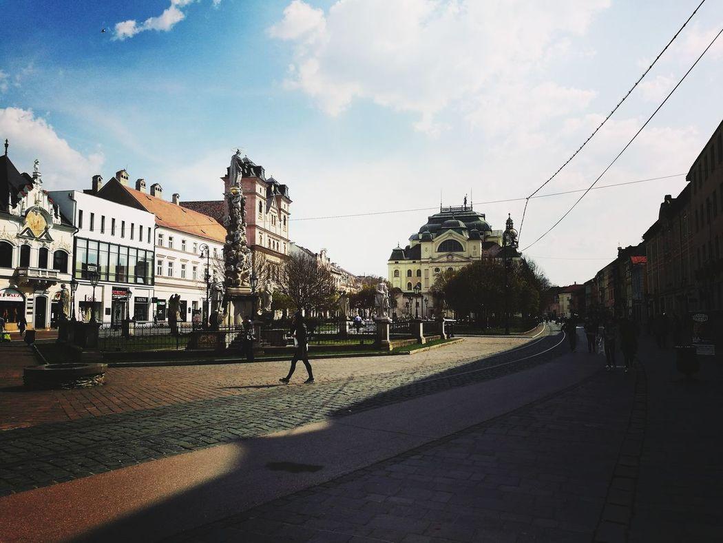 City Architecture Travel Destinations Arrival Outdoors People Sky Day Košice Center