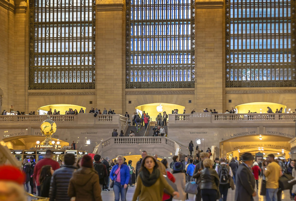 Adult Adults Only Arches Architecture Clock Crowd Day Grand Central Station Hurry Hurrying Large Group Of People New York People Station Travel Travel Destinations Traveller Windows