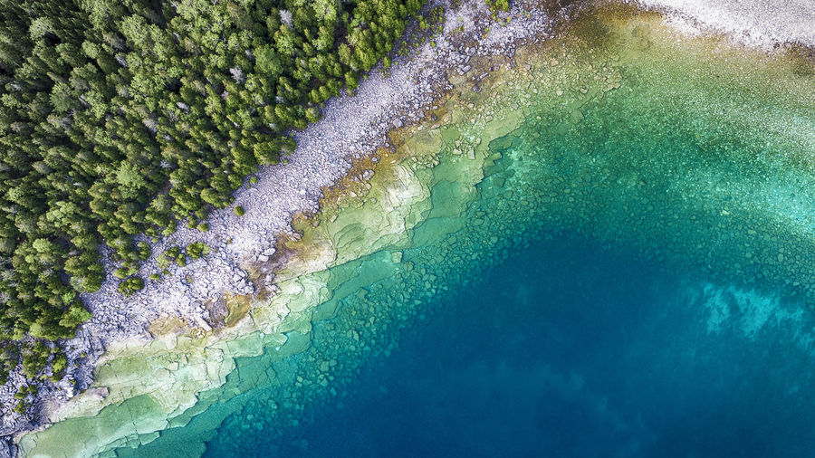 Geology Pattern Scenics Wilderness Multi Colored Lake Aerial View Drone  Aerial Great Lakes Stone Sea Shoreline Clear Water_collection Coastal Clean Pure Fresh Blue Nature Full Frame Textured  Water Tranquility The Great Outdoors - 2017 EyeEm Awards Lost In The Landscape