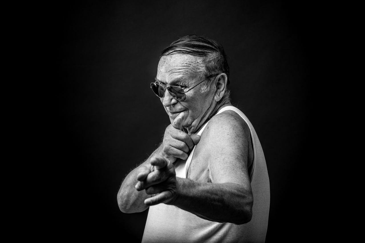 Adult Adults Only Black And White Black Background Black Background Blackandwhite Close-up Human Hand Looking At Camera Males  Men One Man Only One Person One Senior Man Only Only Men People Portrait Portrait Photography Senior Adult Senior Men Strength Studio Photography Studio Shot BYOPaper! The Portraitist - 2017 EyeEm Awards
