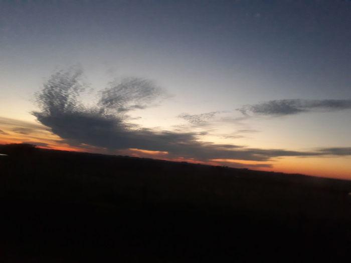 Atardecer en Uruguay!!! Regresando a casa. ☺☺☺☺ Sunset Nature Beauty In Nature Dramatic Sky Scenics Landscape No People Outdoors Sky Day Eyem Gallery Uruguay 2017