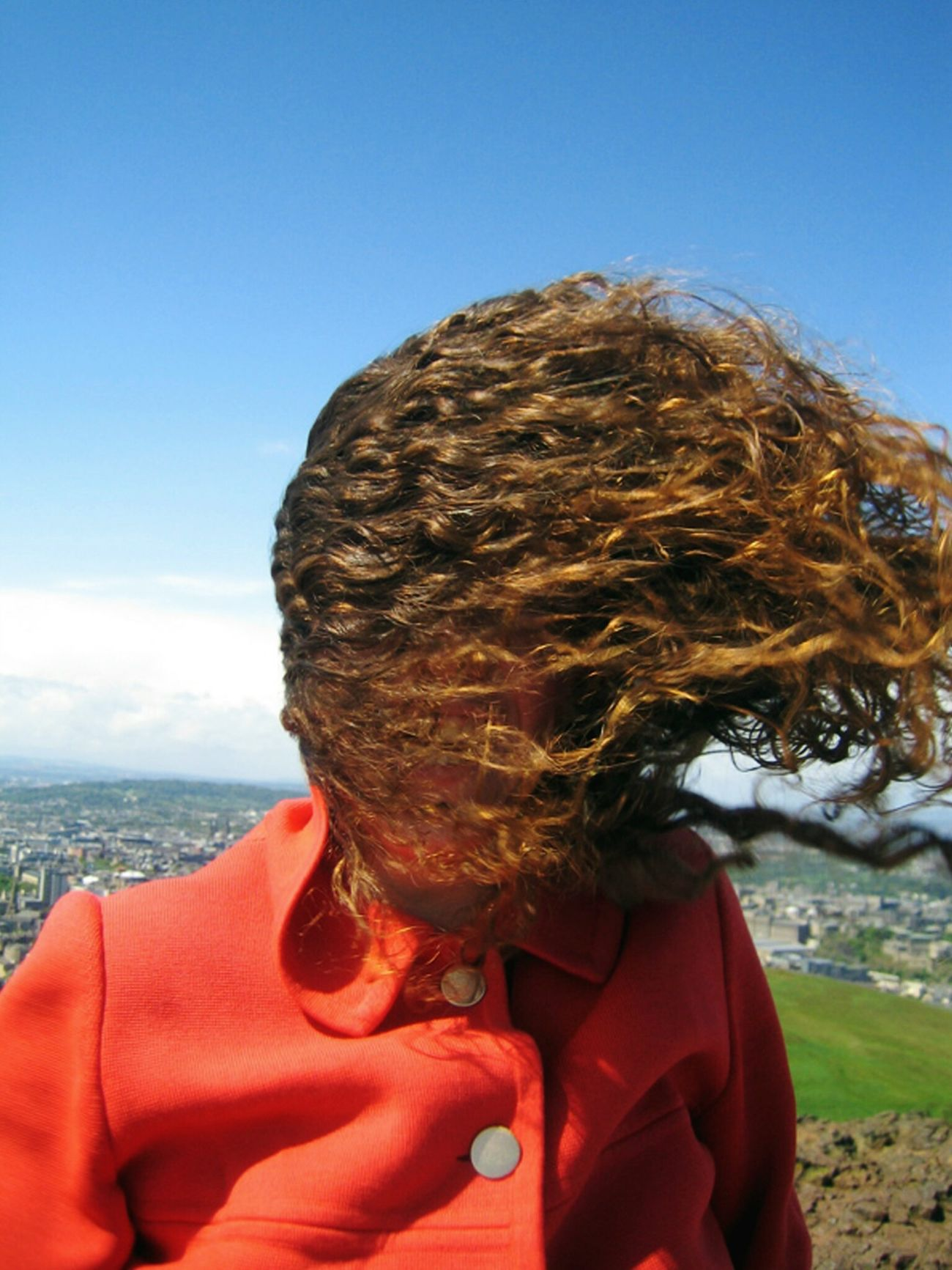 Outdoors People Nature Headshot Hair In The Wind Relaxedand Happy Happyday Edinburgh, Scotland