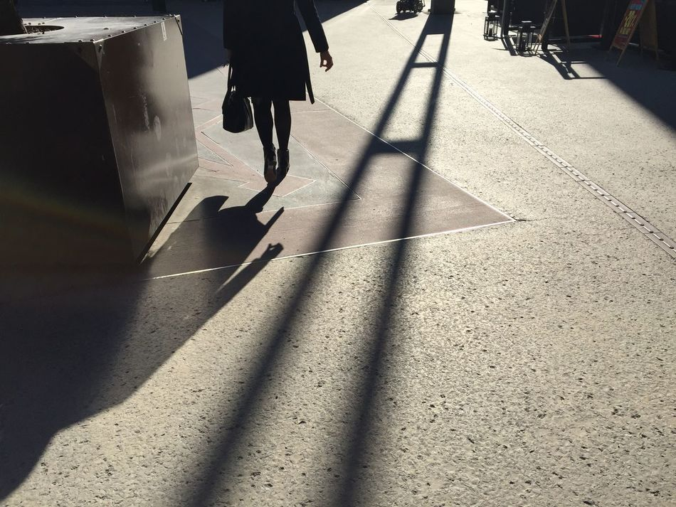 City City Life City Street Day Grey Pavement Lifestyles Long Shadows Outdoors Sunlight The Way Forward Unrecognizable Person
