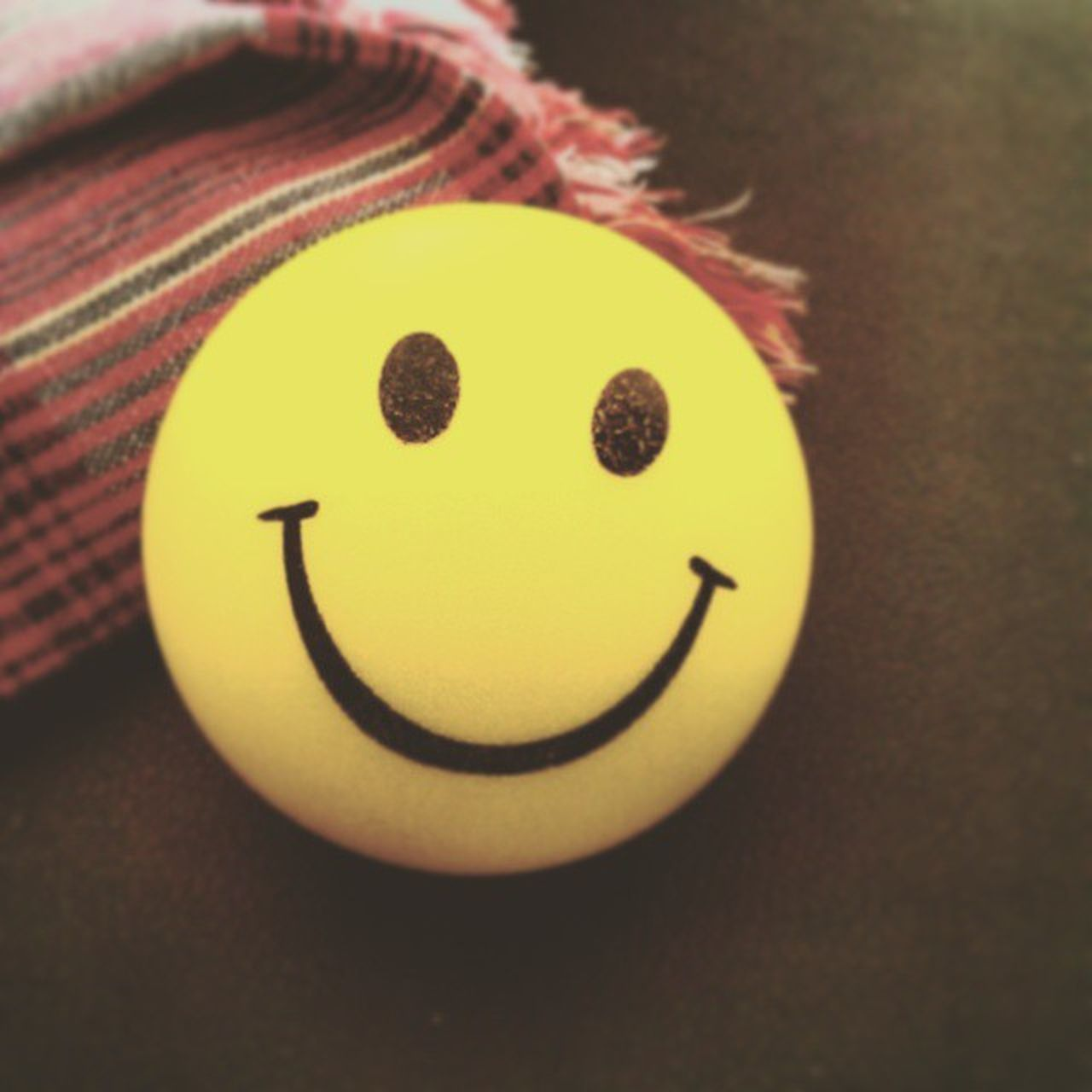 indoors, anthropomorphic smiley face, anthropomorphic face, close-up, no people, happiness, smiling, day