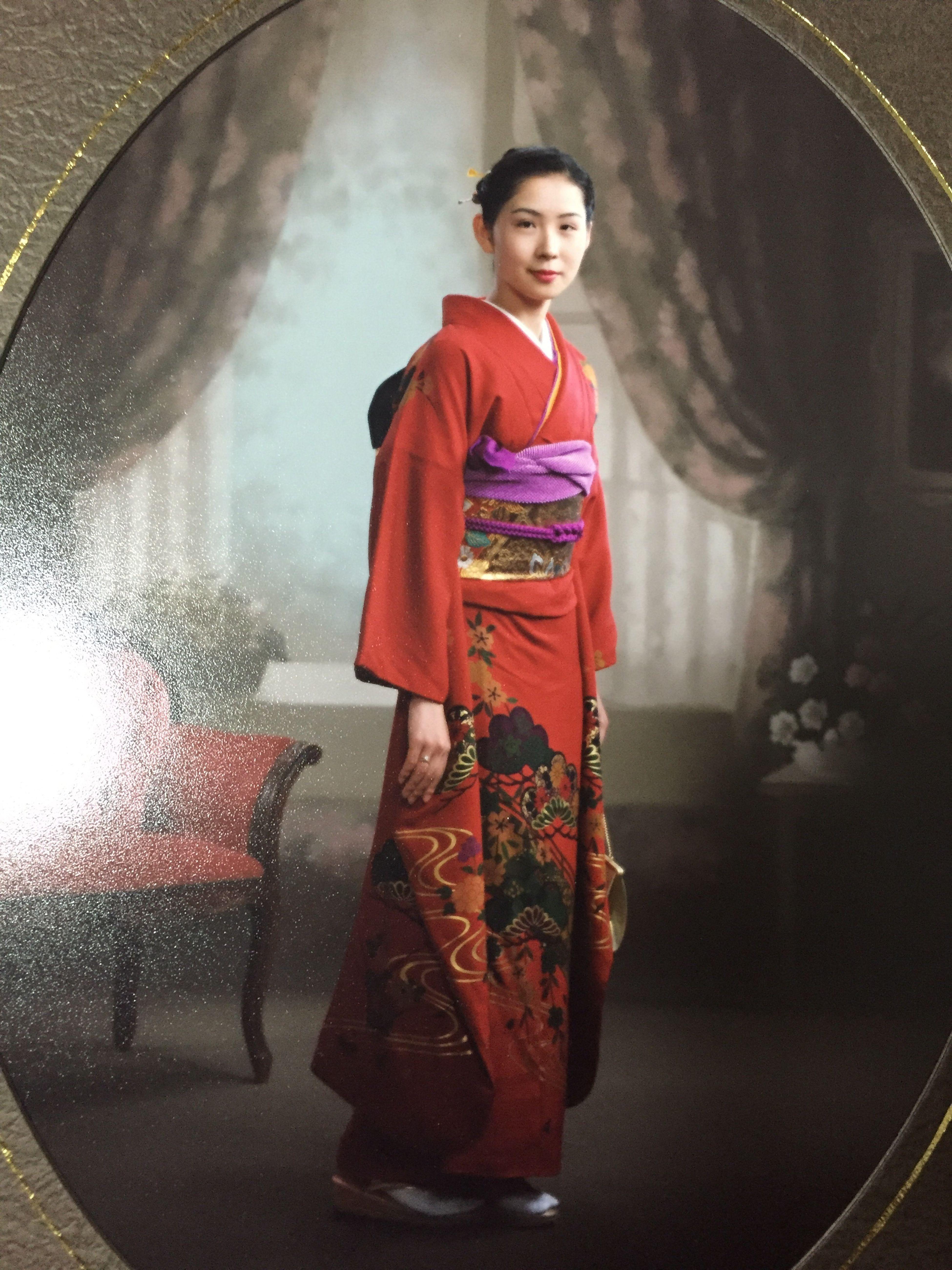 Portrait Memory Japanese  Kimono Japan Memorial 成人式 記念撮影 昭和の香り 着物 二十歳 もはやレトロ