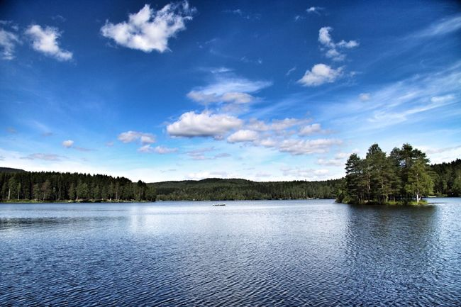 Oslo Sognsvann Lake Clouds And Sky Nature Trees Canon50D Snapseed Norway Miles Away