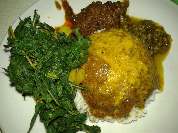 Nasi Rendang Composition Food Food And Drink Meat Padangfood Ready-to-eat Rendang Vegetable