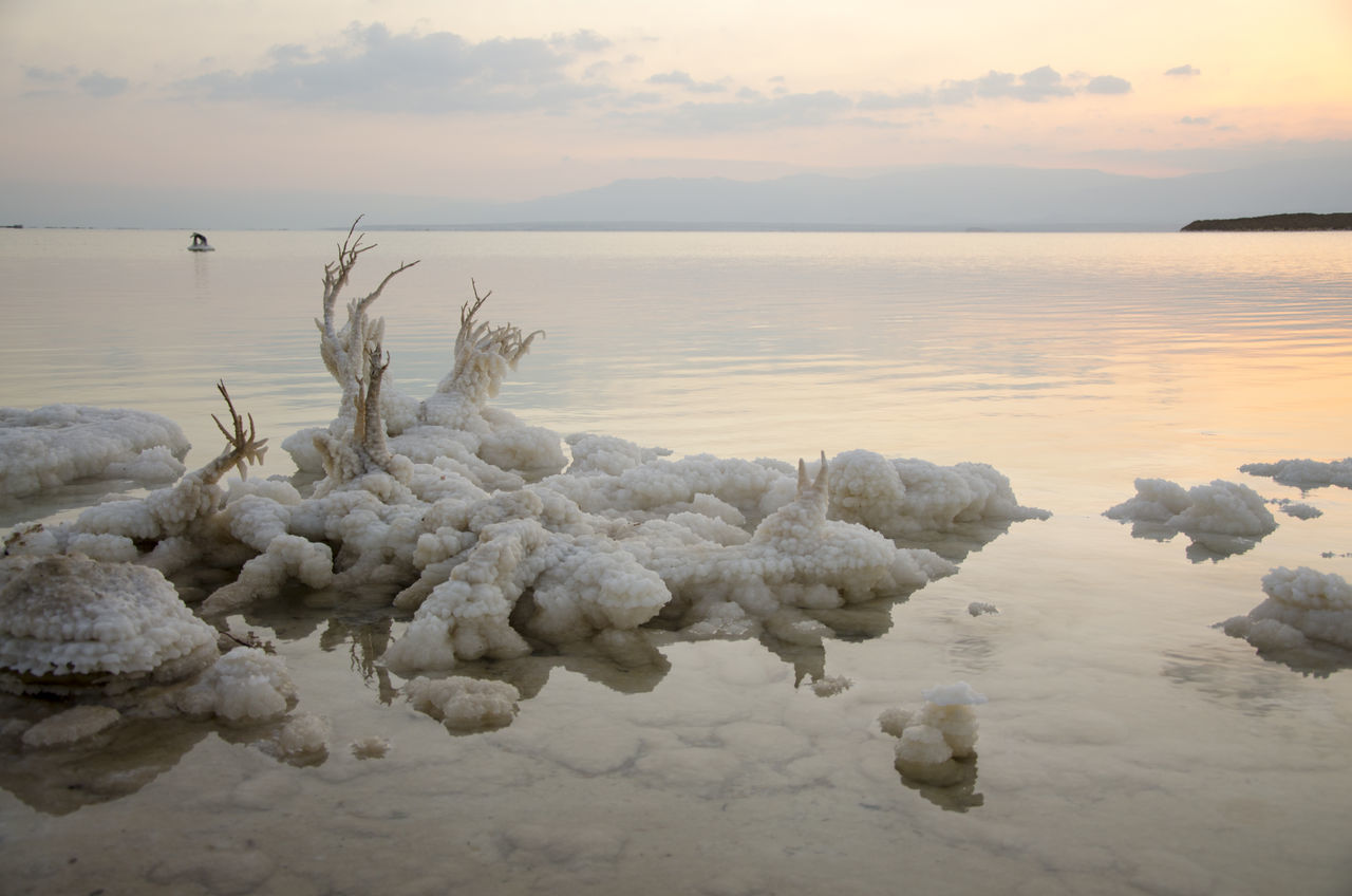 Beach Beauty In Nature Dead Sea  Dead Sea View EyeEmNewHere Horizon Over Water Lake Landscape Nature No People Outdoors Rocks And Minerals Rocks And Water Rocks In Water Salt Salt Lake Saltwater Scenics Sea Sunset Tranquil Scene Travel Tree Water Wave