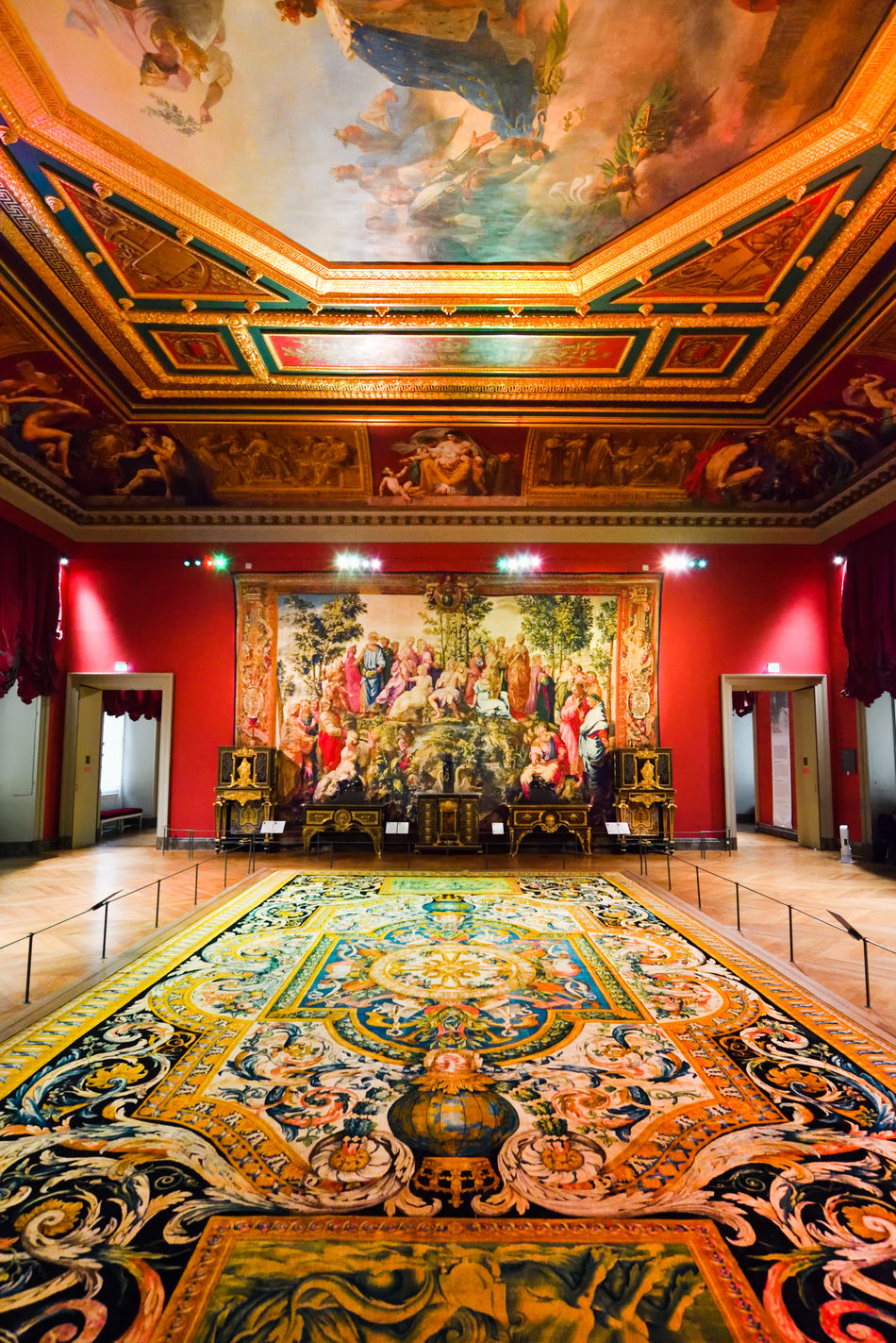 In The Louvre: Tapestries and Painting In The Napolean III Apartments Architecture Architecture Ceiling Floor France Indoor Louvre Luxury Museum Napolean Iii Apartments No People Opulance Opulent Painting Paris Rich Riches Royal Royalty Tapestry Travel Wealth Interior