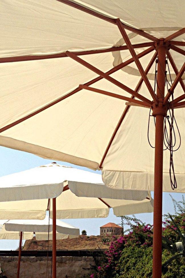 Umbrellas Beach Byblos Summer