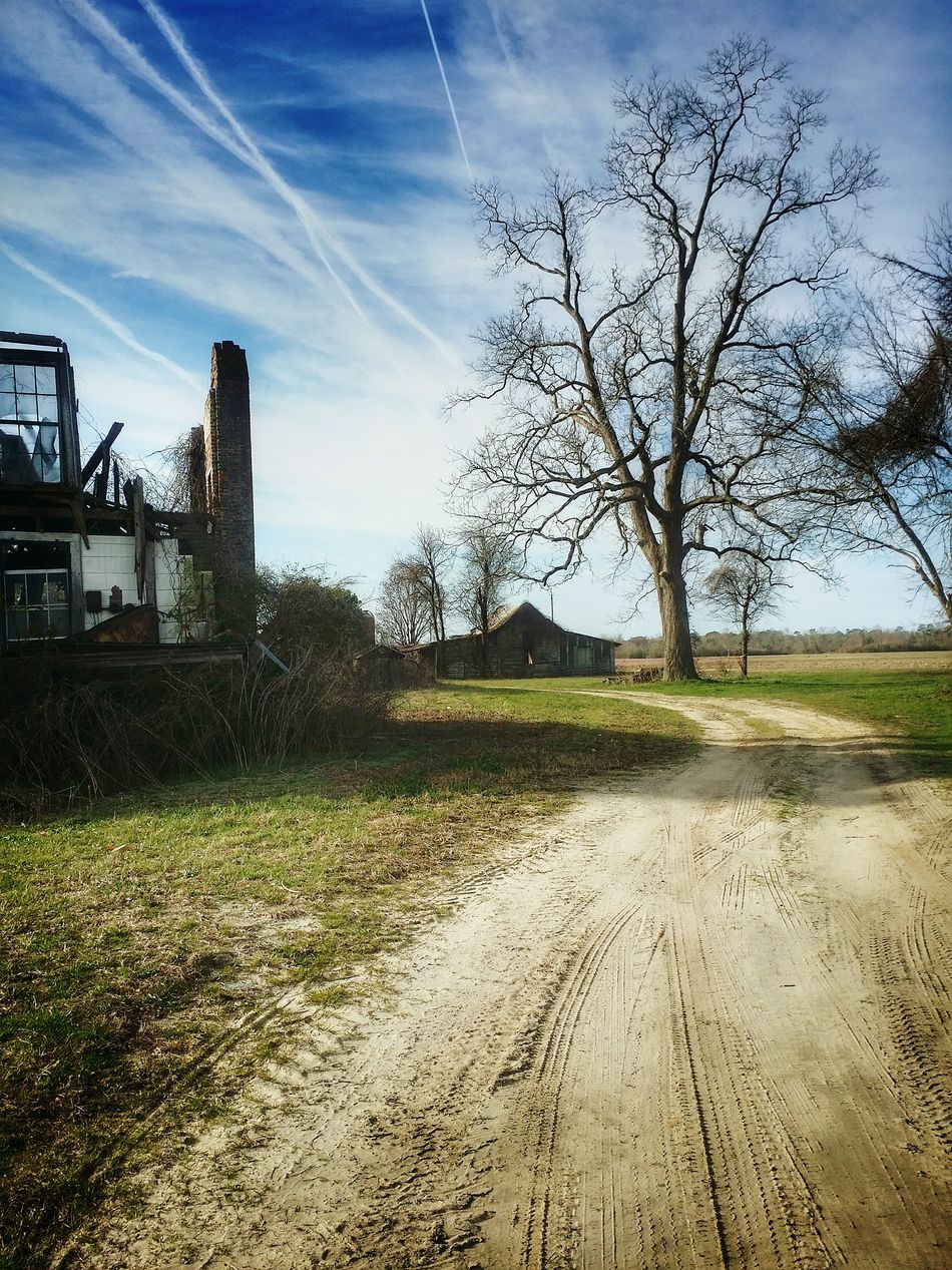 More dirt roads and abandoned places... Sky Sunlight Landscape Day Backroads Southern Life North Carolina Dirt Roads Rurex Architecture Getty Images Eye4photography  EyeEm Best Shots Abandoned House Openfield Abandoned And Derelict Derelict & Abandoned Countryside Deserted No People Rural America RuralExploration Country Exploring