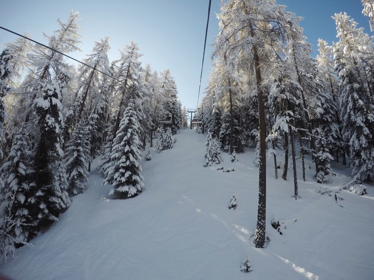 Pila Aosta Italy Skiing Snow Winter Cold Temperature Tree Nature Day Outdoors Beauty In Nature Sky Scenics No People Alpine Alps