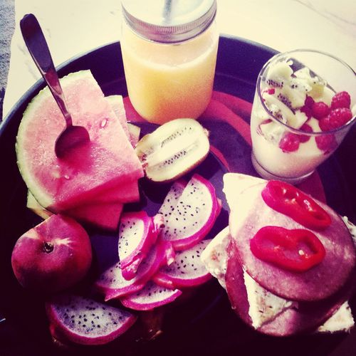 Breakfast Food Fruit Eat More Fruit