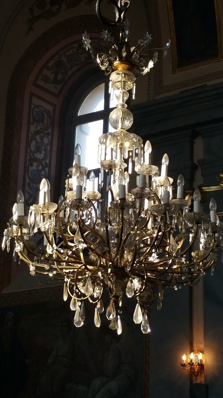 luxury, lighting equipment, indoors, wealth, no people, low angle view, ornate, illuminated, hanging, home interior, elegance, luxury hotel, home showcase interior, architecture, close-up, day