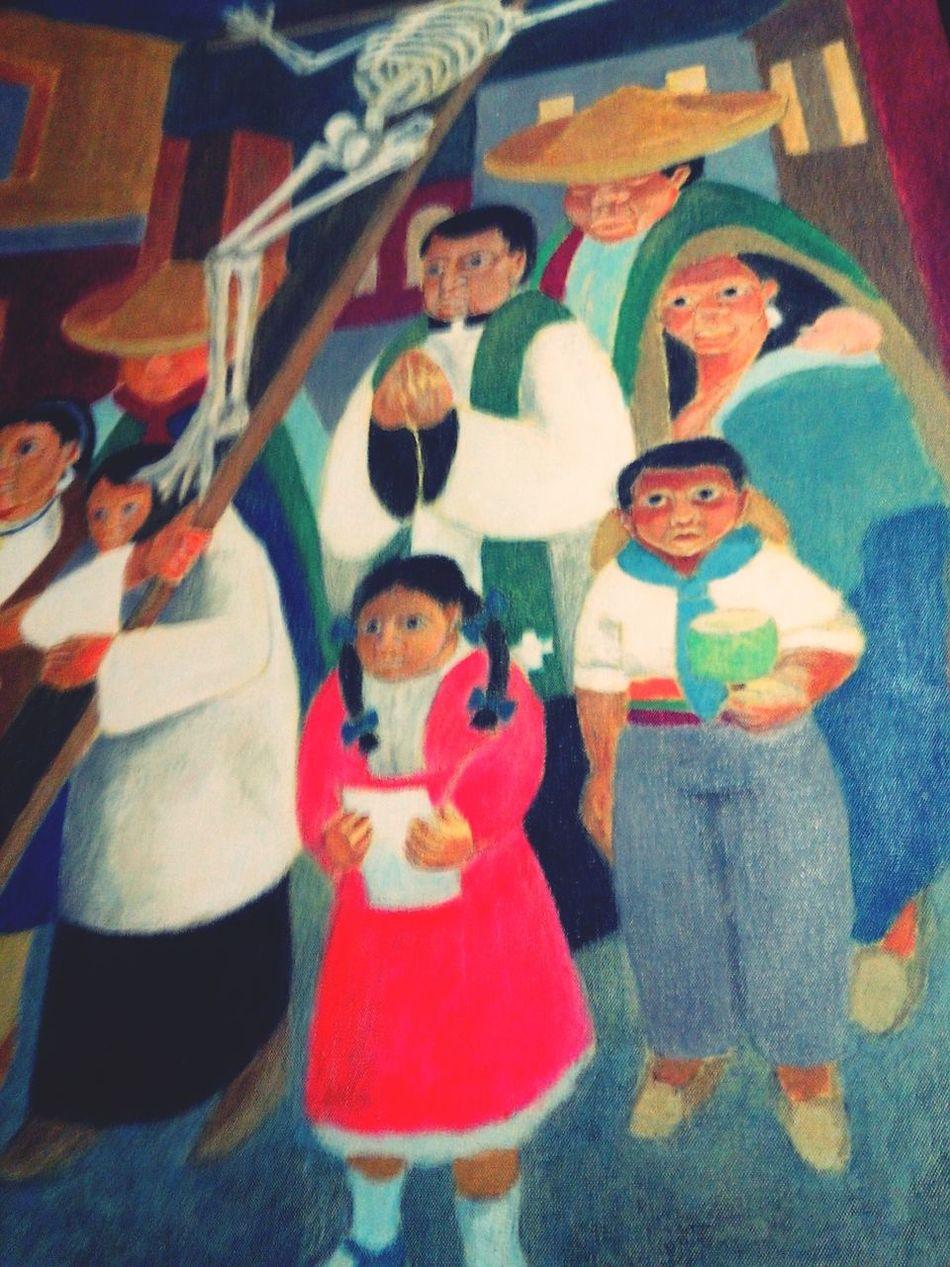 Hello World At A Lecture Almagro Taking Notes Semana Santa en Comala, o los penitentes inocentes. Oleo de Miguel Pencieri, Almagro, Buenos Aires. Argentina