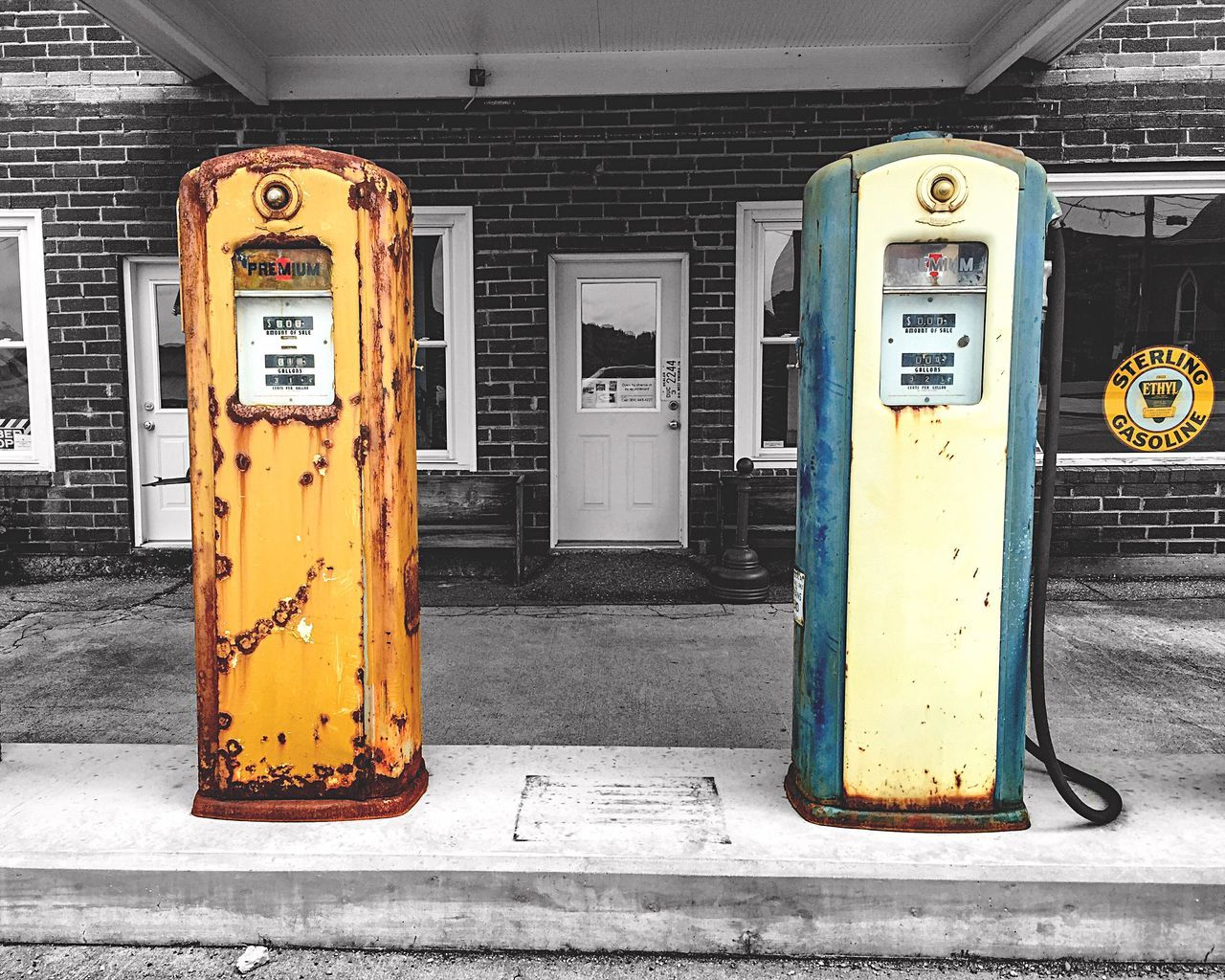 31¢ a gallon! The EyeEm Facebook Cover Challenge Eye4photography  Getting Inspired Streetphotography IPhoneography Colorsplash Blackandwhite Black & White Black And White Lines