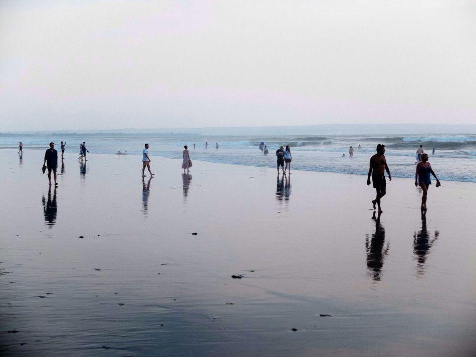 Beautiful stock photos of group, Banjar Badung Tengah, Beach, Clear Sky, Copy Space