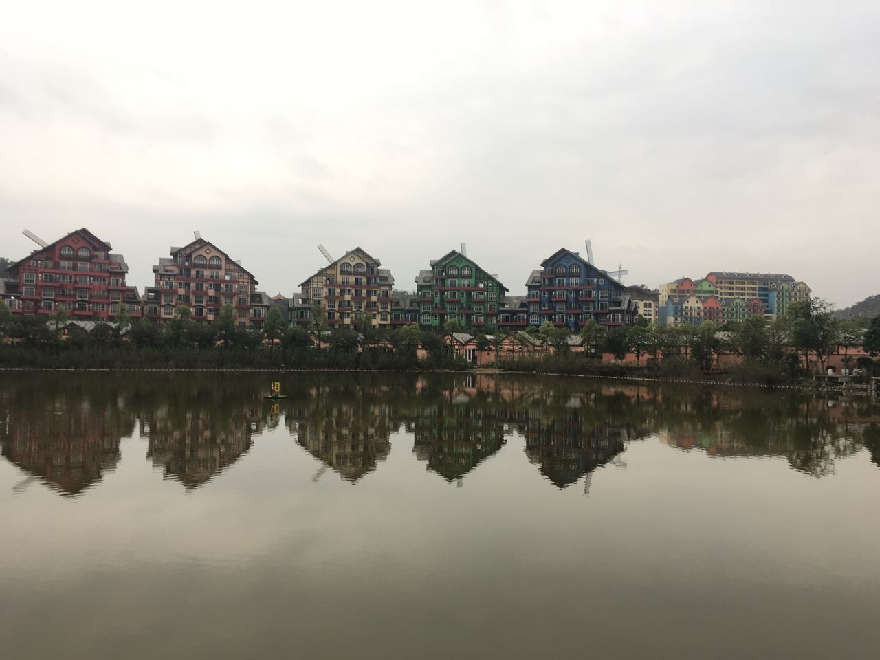 Architecture Built Structure Building Exterior Reflection Sky Water No People Outdoors Day Lake Nature City