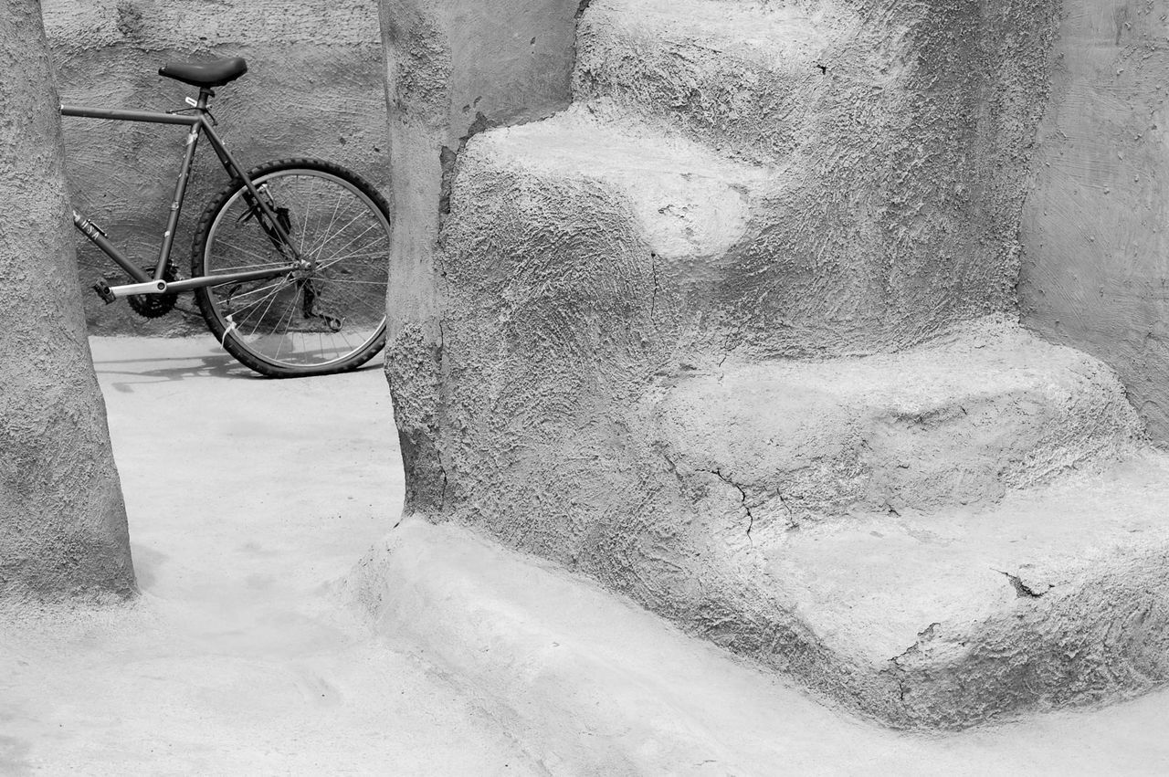 Africa Architecture Bicycle Bicycles Clay House Day No People Old-fashioned Outdoors Transportation Wheel