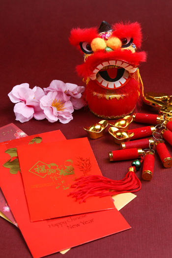 Chinese New Year decorations Angpao Greeting Lion New Year Red Angpow Chinese New Year Culture Decorations Envelope Festival Festive Packet Wish