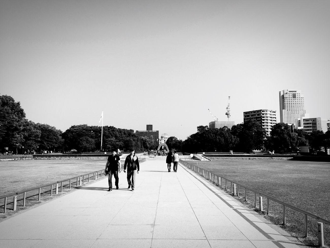 Hiroshima Peace Memorial Park Walking