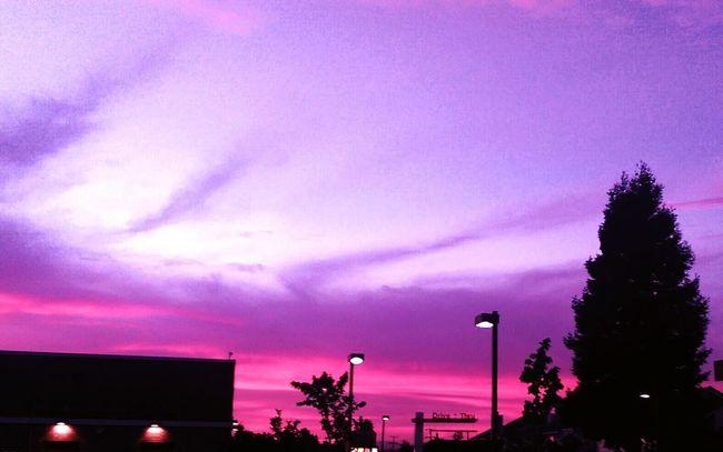 Sunset Hayward, Ca. Lavender Sky Pink Sky