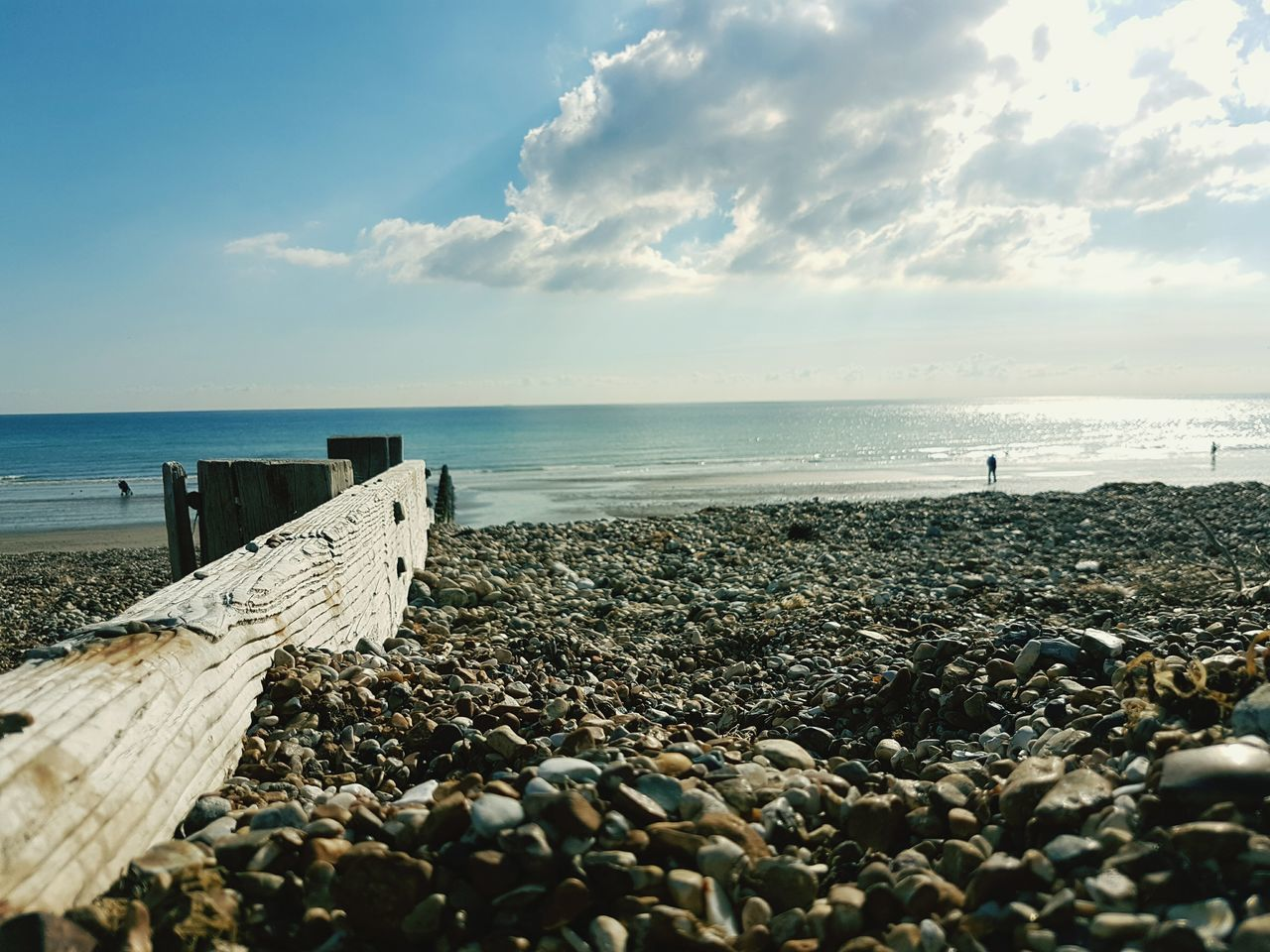 Sea Beach Horizon Over Water Water Sky Scenics No People Nature Day Outdoors Pebble Groyne Beauty In Nature