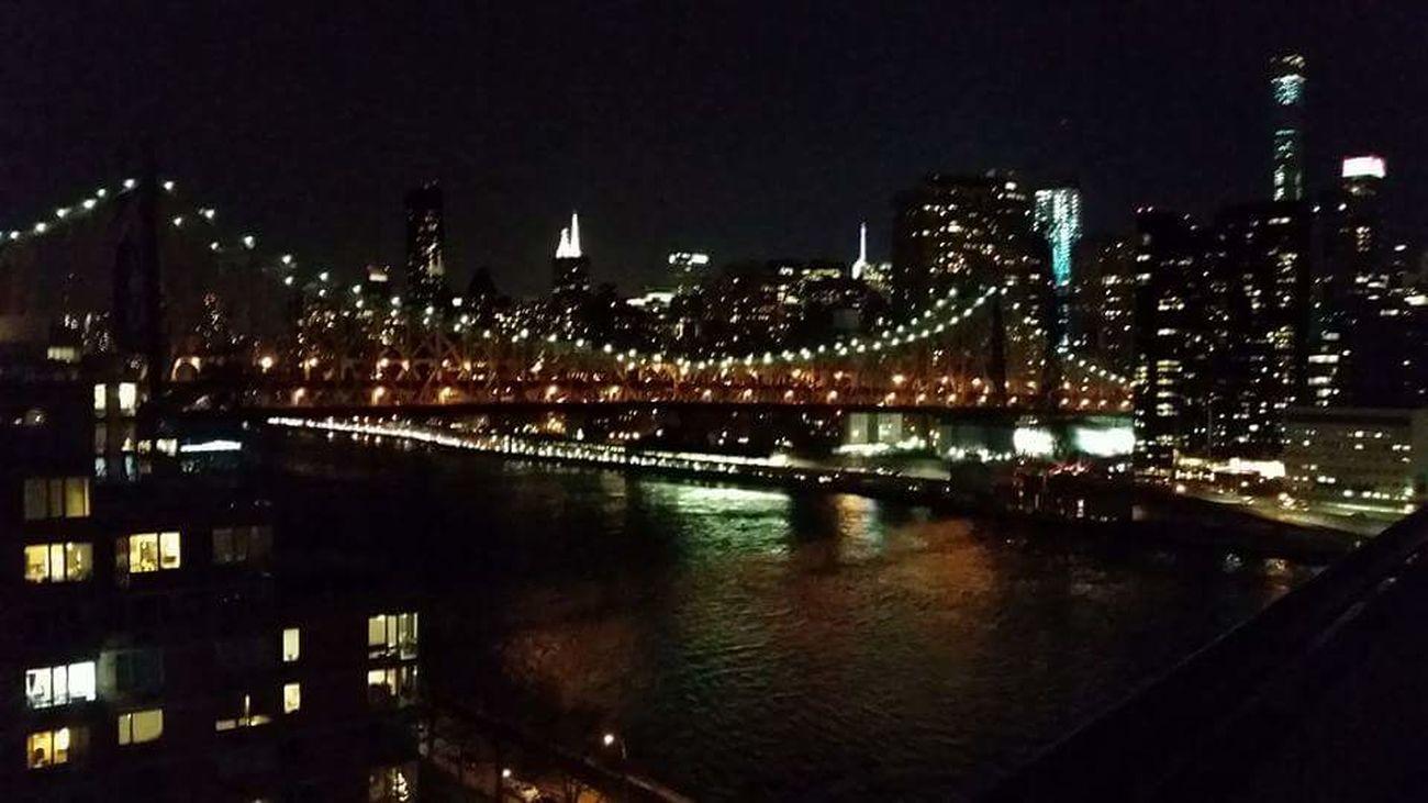 Memories Ujustgotkaied New York Cityscape Lights Bridge Night