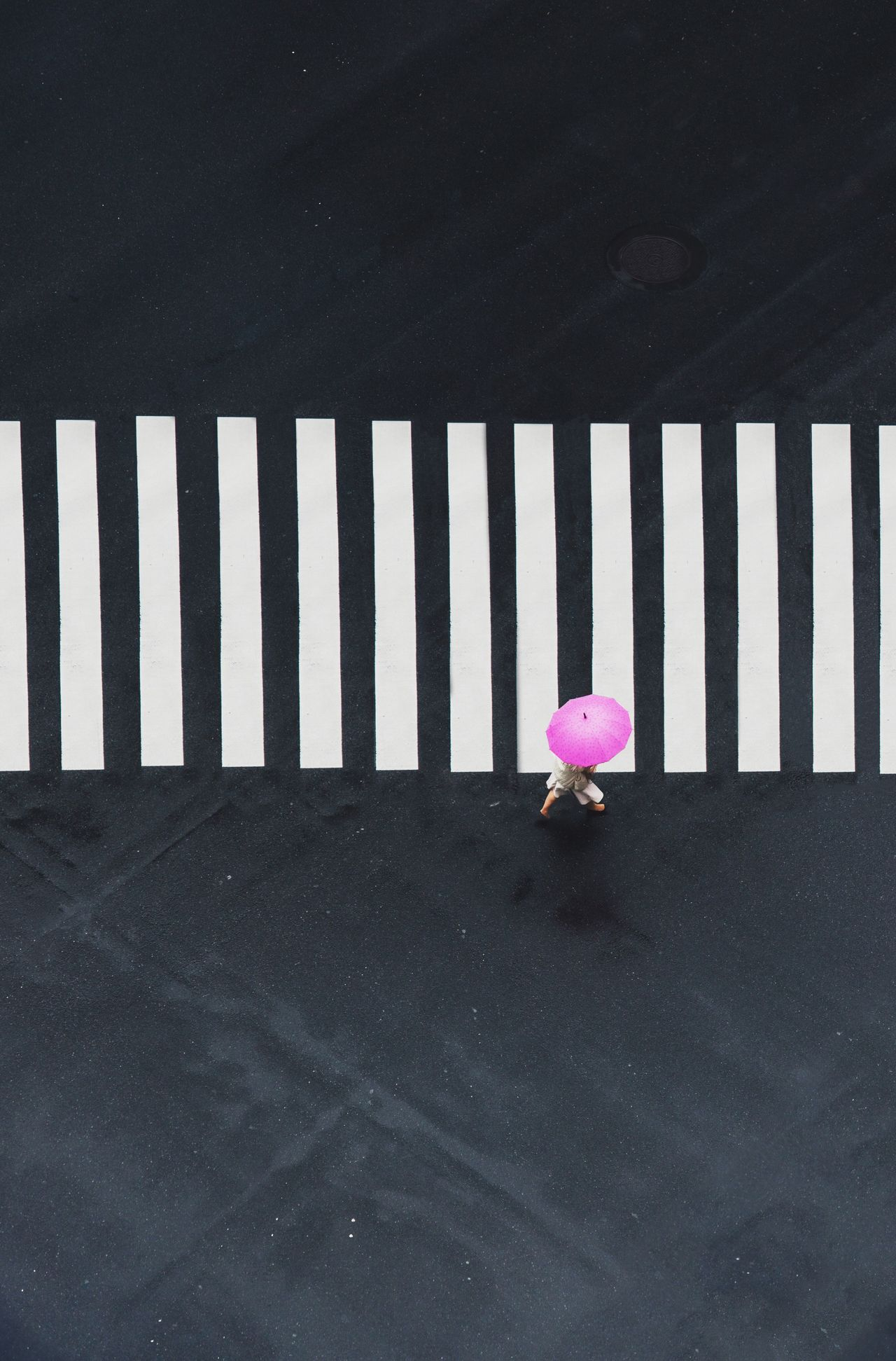 Street Pink Color Streetphotography Tokyo Crossing City Life Minimalism Minimal Japan Minimalobsession Minimalist Zebra Crossing City Street High Angle View Cityscape Tinypeople