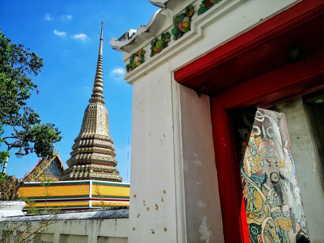 Architecture Built Structure Building Exterior Outdoors Tourism No People Travel Destinations Tradition Gold Colored Sky Day Travel ASIA Thailand Bangkok Cultures Place Of Worship Colorful Ornaments Design Temple Gold Wat Pho Door Buddhism