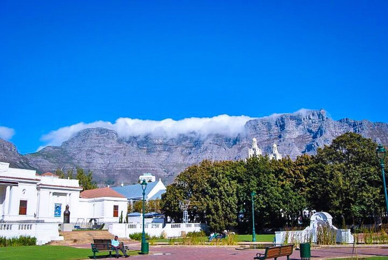 The world renowned Table Mountain. Walking Around City Walk