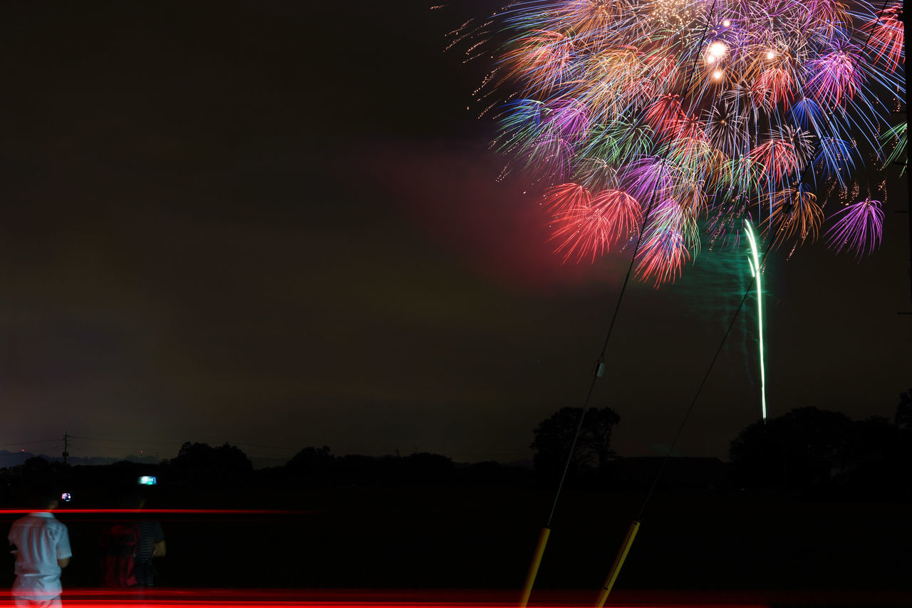 Colorful Fireworks At Night