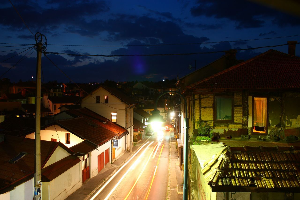 Streets of Sarajevo , Bosnia And Herzegovina Nightshot Nightsky Nightphotography Night Lights Long Exposure
