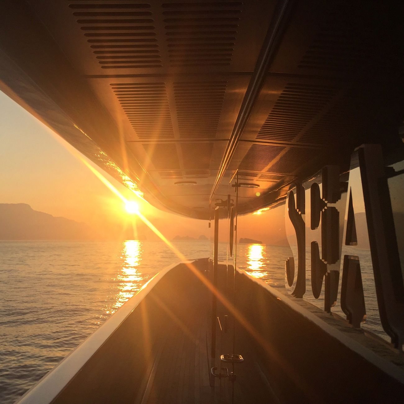 Water Sea No People Sunset Boat Deck Seascape Horizon Over Water Sea And Sky Yacht Boat Travel Journey Luxury Sunset_collection Day Beutiful  Italy