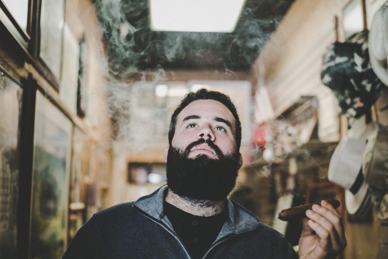 One Person Real People Front View Human Face Cigar Smoke Man Cuban Cuban Cigar Smoking Headshot