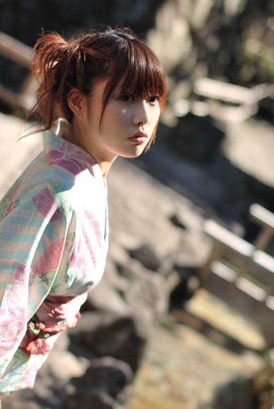 浴衣にマカロン見つけられたかな。Model:りんすPortrait Kimono KAWAII Beauty