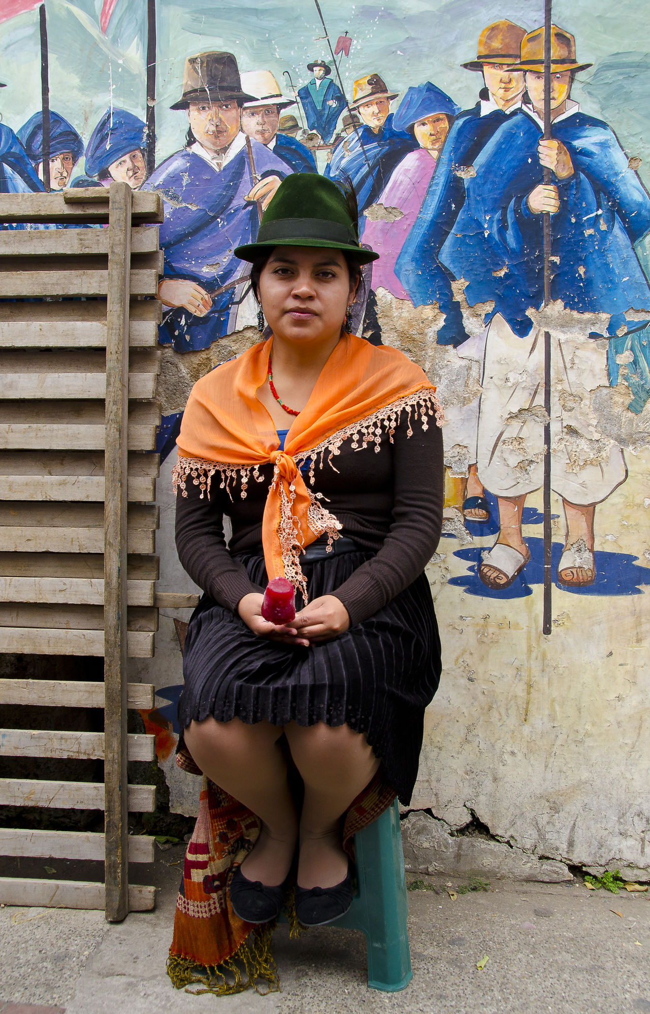 I met this beautiful young woman on a market in Otavalo. I asked her to sit down at the picture for me, and she was so kind to do so! Portrait Portrait Of A Woman Portraits Ecuador Otavalo Market Wearing Hat Hat Hats Ice Ice Cream The Portraitist - 2016 EyeEm Awards Girl Power