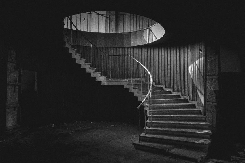 Pattern Indoors  Blackandwhite Black And White Monochrome Street Photography Check This Out Photography Streetphotography Abandoned Stairs Darkness Light And Shadow Building Abandoned Buildings Light Shadow Horror Places No People Outdoors Tbilisi Fujifilm Georgia Black & White Friday