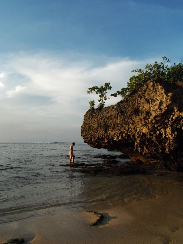 Bali Bali, Indonesia Beach Beauty In Nature Nature Ocean Ocean Cliffs Ocean Rocks One Woman Only One Young Woman Only Padang Padang Beach - Bali Paradise Sea Shoreline Tidepools Vacations Women Around The World The Great Outdoors - 2017 EyeEm Awards Live For The Story Lost In The Landscape Perspectives On Nature