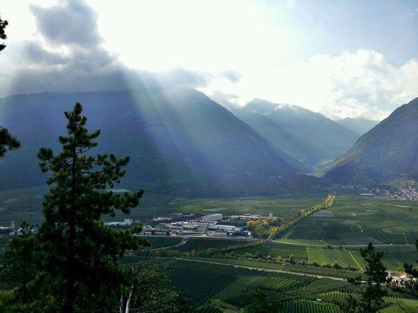 Blessed view in Südtirol Vinschgau Vinschgauer Oberland Mountains