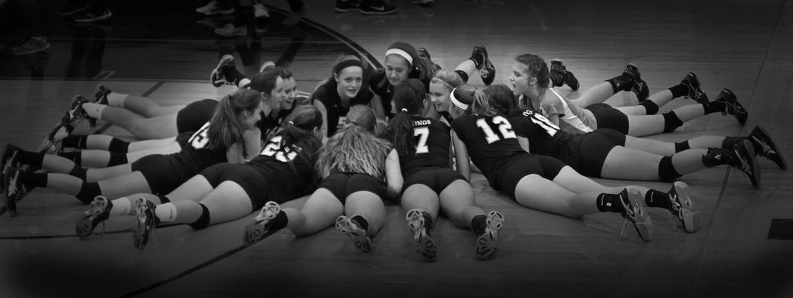 Athlete Athletics Black And White Eric Barnes Photography Friendship Mount Hebron High-school Real People Sports Team Togetherness Vikings  Volleyball