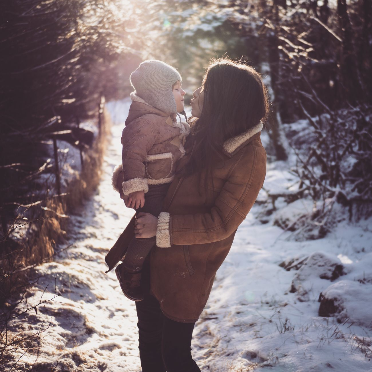 Winter kiss Winter Cold Temperature Warm Clothing Snow Love Nature Happiness Outdoors Togetherness Kids Children Photography Olympus Motherhood Omd Mft Toddler  Sunbeam Child Family Children Love Enjoying Life Sunshine
