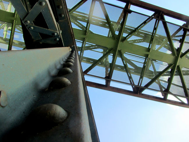 Abstract shot of Wuppertal suspension railway Abstract Abstract Photography Abstractions Architecture Close-up Low Angle View Railway Railways_of_our_world Scaffold Scaffolding Scaffoldings Schwebebahn Schwebebahn Wuppertal Sky Suspension Suspension Railway Wuppertal