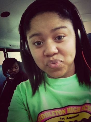 Bri and I on the bus. !