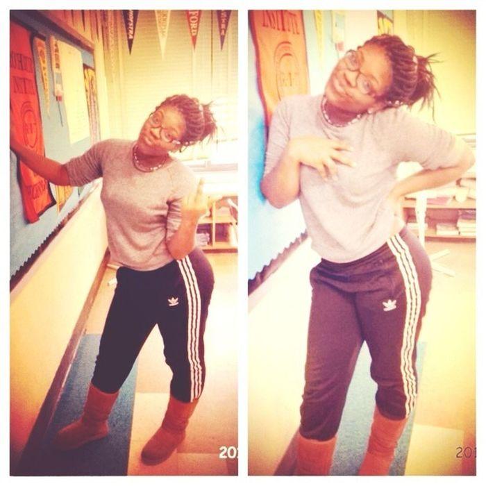 wildin off in class