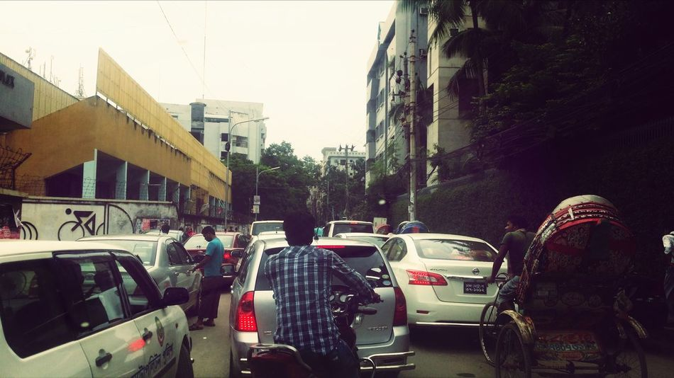 Horrible traffic jam within Dhanmondi. Though this is a very common scenario, very few authorities are really concerned about it. Mandatory school bus service facility followed by mandatory use of the same by the students might help a bit